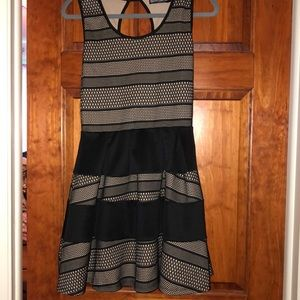 Crystal Doll Black/Tan dress